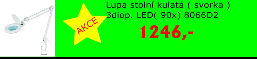 Lupa stolní kulatá ( svorka ) 3diop. LED( 90x) 8066D2