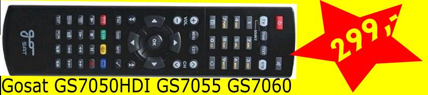 GoSat 70XX PVR,7050- 7055- 7056 Dálkové ovládání